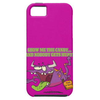 show me the candy funny halloween monster toon tough iPhone 5 case