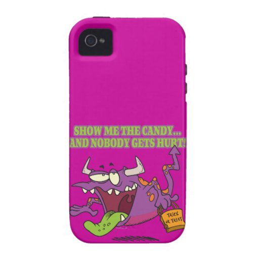 show me the candy funny halloween monster toon vibe iPhone 4 cases
