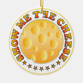 Show Me The Cheese Christmas Tree Ornament