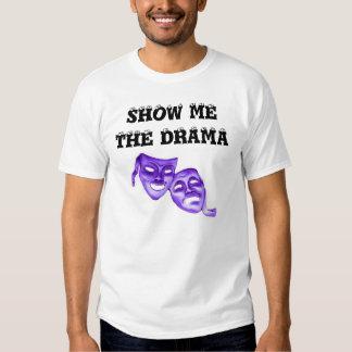 SHOW ME THE DRAMA w/masks w/KBP on back Tee Shirts
