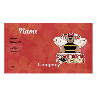 Show Me the Honey Bumble Bear Business Cards