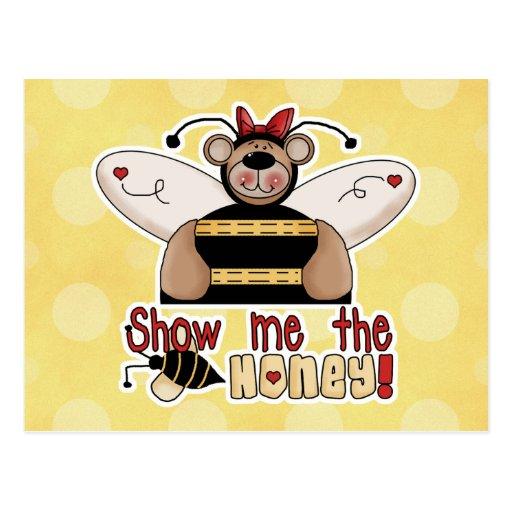 Show Me the Honey Bumble Bear Postcard
