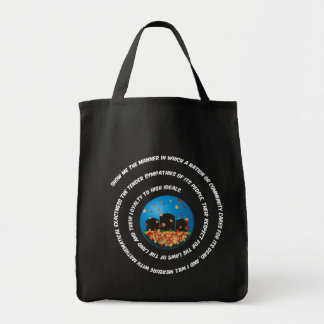 Show Me The Manner Globe Tote Bag