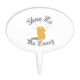 Show Me the Money Cake Picks