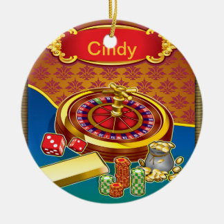 Show Me The Money Gambler Christmas Ornament