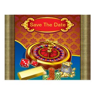 Show Me The Money Gambler Postcard