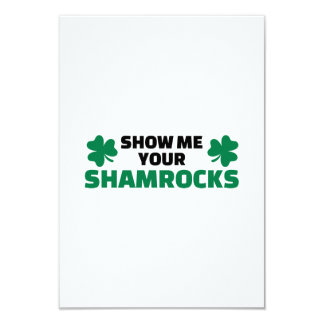 Show me your shamrocks announcements