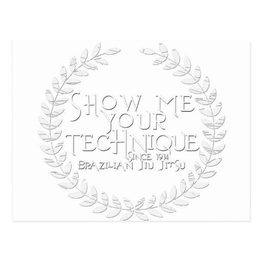Show Me Your Technique - since 1914 Post Cards