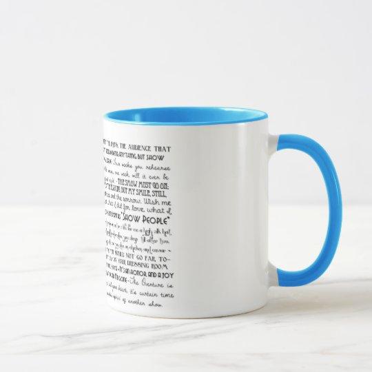 """""""Show People"""" mug"""