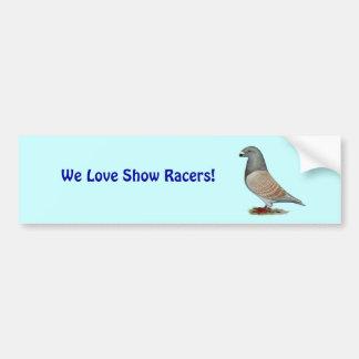 Show Racer Recessive Opal Car Bumper Sticker