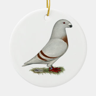 Show Racer Red Bar Pigeon Christmas Ornament