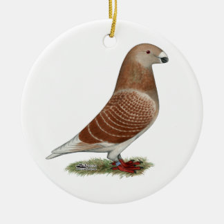 Show Racer Red Check Christmas Ornaments