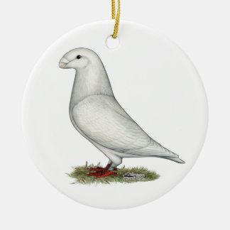 Show Racer White Christmas Tree Ornament