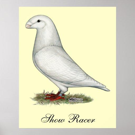 Show Racer White Print