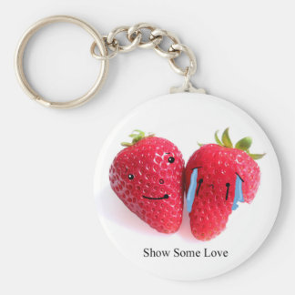 show some love basic round button key ring