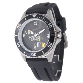 Show Stainless steel black rubber Wristwatch