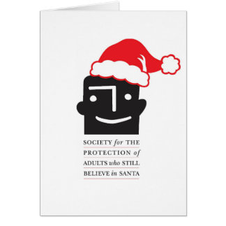Show Support 4 Santa Believers! Unique Xmas Cards