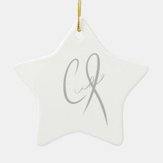 show support for encephalitis CURE Ceramic Star Decoration