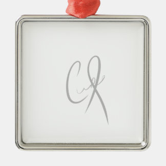 show support for encephalitis CURE Silver-Colored Square Decoration
