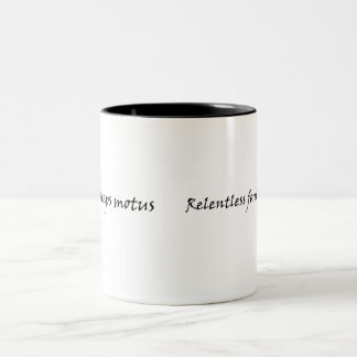 Show the world your commitment to self improvement Two-Tone mug