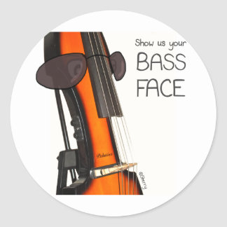 Show us your Bass Face! - Sterry Cartoons Round Sticker