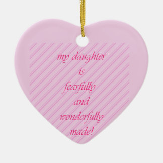 Show your daughter some love! ceramic heart decoration