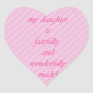 Show your daughter some love! heart sticker