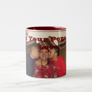 Show Your Pops Some Love Two-Tone Mug