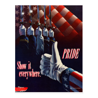 SHOW YOUR PRIDE IN OUR MILITARY POSTCARD