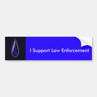 Show your support for Law Enforcement Bumper Sticker
