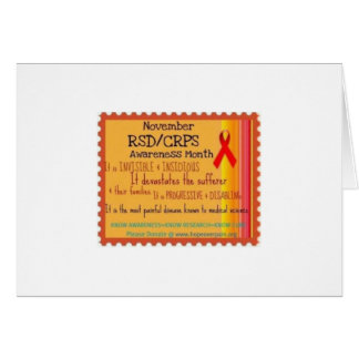 Show your support  for R S D Note Card