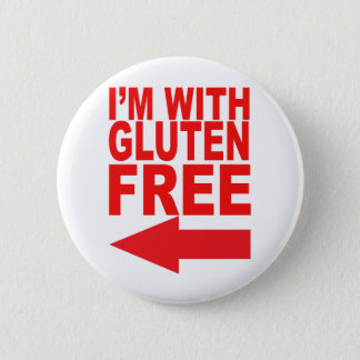 Show your support for your Gluten-Free loved one! 6 Cm Round Badge