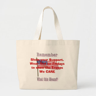 Show your Support. Wear Red on Fridays ... Jumbo Tote Bag