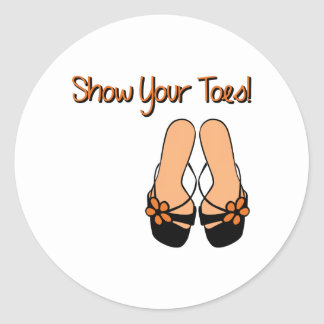 Show Your Toes Classic Round Sticker