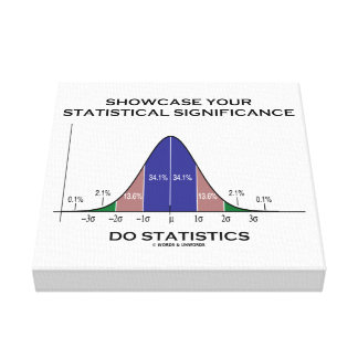 Showcase Your Statistical Significance Statistics Canvas Print