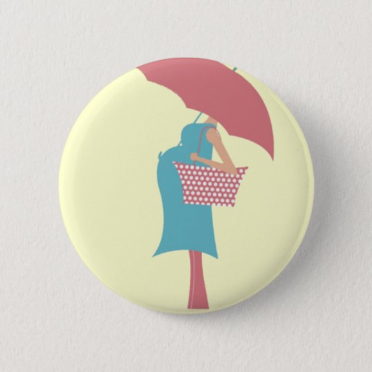 shower baby 6 cm round badge