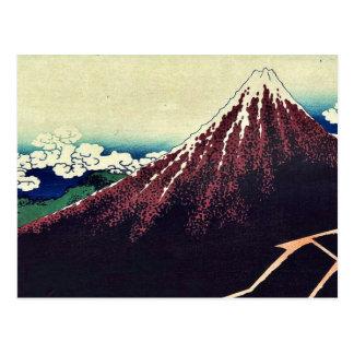 Shower below the summit by Katsushika, Hokusai Postcard