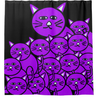 Shower Curtain Cats