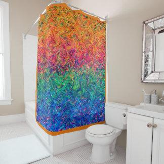 Shower Curtain Fluid Colors