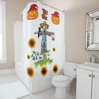 Shower curtain Halloween