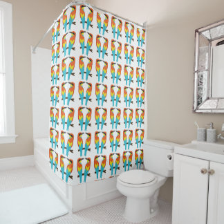 Shower Curtain LOVE BIRDS