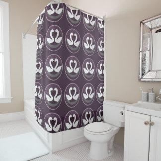 Shower Curtain LOVE SWANS