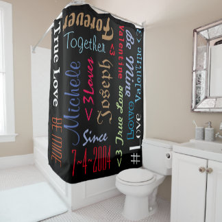 Shower Curtain Personalised Marriage Anniversary
