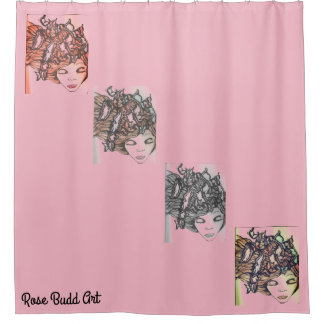 shower curtain pink