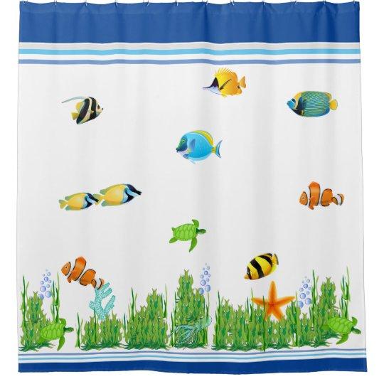 Shower Curtain Curtains Seaside Aquarium