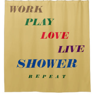Shower Curtain With Cute Sayings