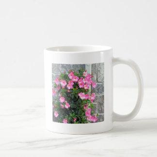 Shower Garland of FLOWERS pink white stripe gifts Coffee Mug