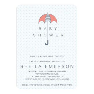 Shower In The Forecast Baby Shower Invitation