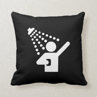 Shower Pictogram Throw Pillow Cushions