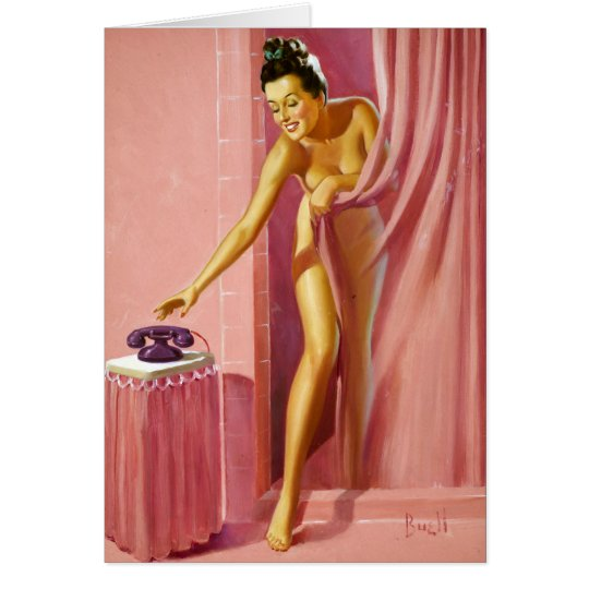 Shower Pin Up Card